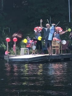 flotilla celebrating the Stanley cup at the Kapikog lake bar