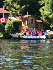 flotilla our newest cottagers go all out decorating their dock
