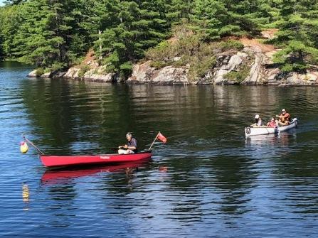 flotilla stuart leading canoers