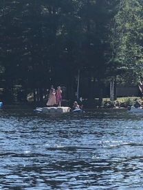 Leflers dance us into their bay on their floating dock